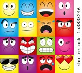vector cartoon set of different ... | Shutterstock .eps vector #153833246