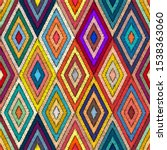embroidered geometric seamless...   Shutterstock .eps vector #1538363060