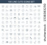 cute icons. trendy 100 cute... | Shutterstock .eps vector #1538383250