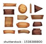 empty signboards or wood planks ...   Shutterstock .eps vector #1538388800