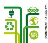 think green over white... | Shutterstock .eps vector #153839594