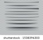 set of realistic transparent... | Shutterstock .eps vector #1538396303