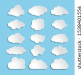 white paper cloud message sign...