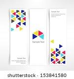 vector set of three header...   Shutterstock .eps vector #153841580