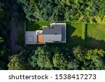 Aerial View Of Modern House...
