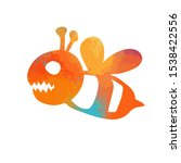 colorful cheerful bee monster.... | Shutterstock .eps vector #1538422556