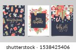 christmas and new year gift... | Shutterstock .eps vector #1538425406