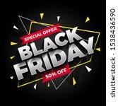special offer black friday sale ... | Shutterstock .eps vector #1538436590