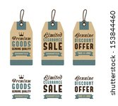 discount sale label  sale offer ... | Shutterstock .eps vector #153844460