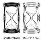 Hand Drawn Line Art Hourglass...