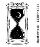 hand drawn line art hourglass... | Shutterstock .eps vector #1538446766