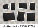 realistic photo album frames.... | Shutterstock .eps vector #1538453726