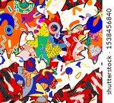 patchwork pattern summer juicy. ... | Shutterstock .eps vector #1538456840