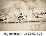 Sierra Vista on a geographical map of USA