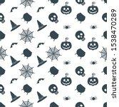 halloween seamless pattern with ... | Shutterstock .eps vector #1538470289