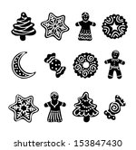 set web icon. christmas... | Shutterstock .eps vector #153847430
