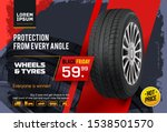 wheel sale. black friday.... | Shutterstock .eps vector #1538501570