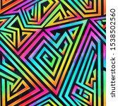 colored maze vector seamless... | Shutterstock .eps vector #1538502560