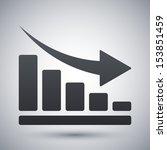 vector declining graph icon   Shutterstock .eps vector #153851459