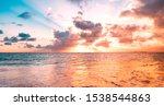 Ocean Sunset Sky Background...