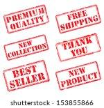 set rubber stamps. eps8 vector... | Shutterstock .eps vector #153855866