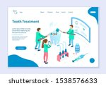 concept of tooth treatment  web ... | Shutterstock .eps vector #1538576633