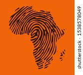 sketch fingerprint african... | Shutterstock .eps vector #1538578049