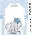 baby shower invitation. cute... | Shutterstock .eps vector #1538585759