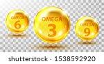 gold  fish oil pills isolated... | Shutterstock .eps vector #1538592920