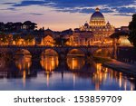 night view at st. peter's... | Shutterstock . vector #153859709