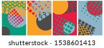 abstract background  template ...   Shutterstock .eps vector #1538601413