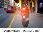red parking meter or parking... | Shutterstock . vector #1538612180