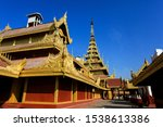 mandalay palace with blue sky... | Shutterstock . vector #1538613386