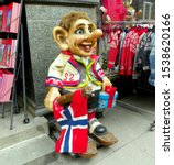 Small photo of Norway, Oslo, the Troll Shop, troll's figure