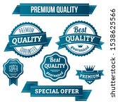 premium quality labels and... | Shutterstock .eps vector #1538625566