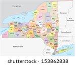 new york state map | Shutterstock .eps vector #153862838