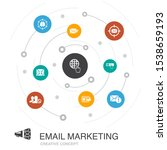 email marketing colored circle...