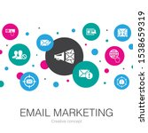 email marketing trendy circle...