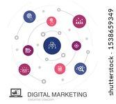 digital marketing colored...