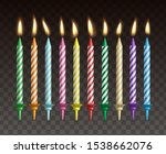 candles for cake. realistic... | Shutterstock .eps vector #1538662076