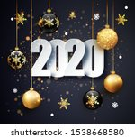 happy new 2020 year. holiday... | Shutterstock .eps vector #1538668580