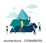 people connect the elements of... | Shutterstock .eps vector #1538688350