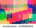 grunge style soft light effect... | Shutterstock . vector #1538689646
