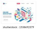 online education landing page...
