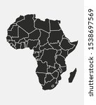 africa map with regions... | Shutterstock .eps vector #1538697569