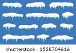 snow with icicle frames. snow... | Shutterstock .eps vector #1538704616