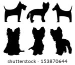Small Dog Silhouettes  ...