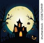 halloween design composition...   Shutterstock .eps vector #1538710949