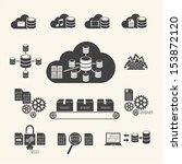 big data icons set  cloud... | Shutterstock .eps vector #153872120