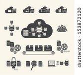 big data icons set  cloud... | Shutterstock .eps vector #153872120